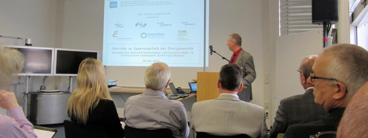 """VDI-Fachsymposium des Halleschen Bezirksvereins in Bitterfeld """"Betriebe im Spannungsfeld der Energiewende"""""""