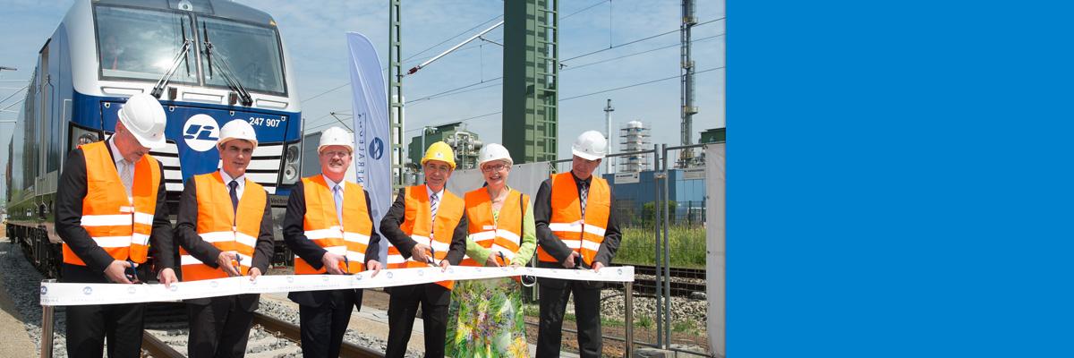 Inbetriebnahme des neuen Übergabebahnhofs Leuna Nord für den Chemiestandort Leuna