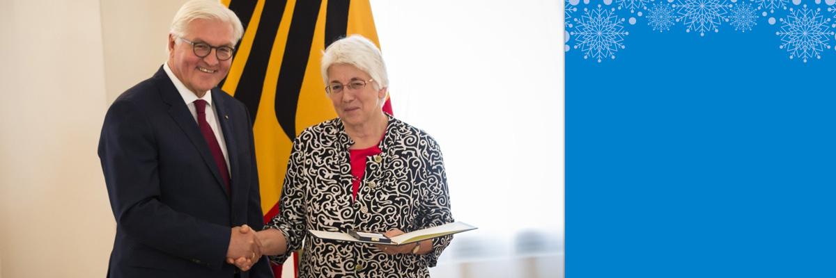 Dr. Renate Patz aus den Reihen des VDI Hallescher BV mit Verdienstorden der Bundesrepublik Deutschland ausgezeichnet