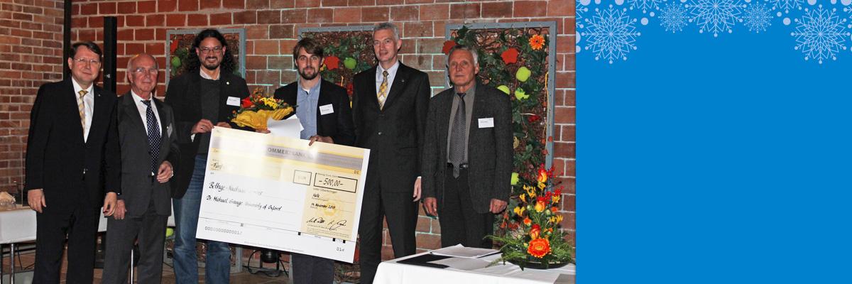 Heinz-Bethge-Nachwuchspreis an Michael Grange und Anerkennungspreis an Richard Busch vergeben