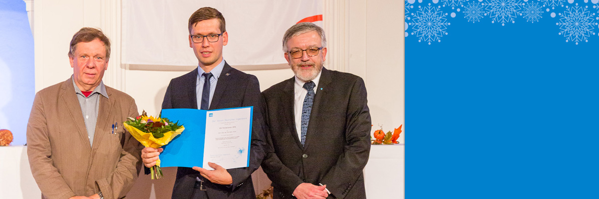 Der Hallesche Bezirksverein übergibt in Köthen VDI Förderpreis 2016 für beste Abschlussarbeit und lobt den Preis für 2017 aus