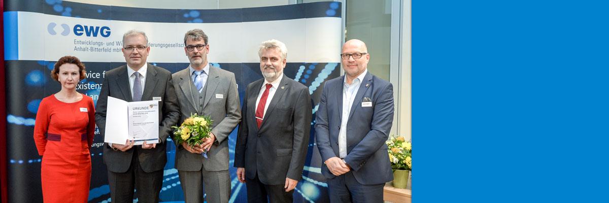 Verleihung des Reiner-Lemoine-Innovationspreises Anhalt-Bitterfeld 2018