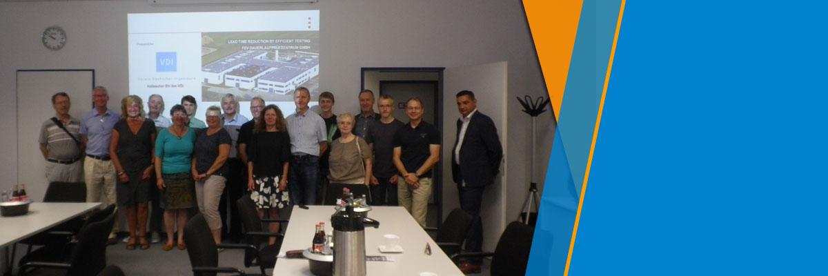 Fachexkursion zum FEV Dauerlaufprüfzentrum GmbH Brehna und den Meisterhäusern Dessau